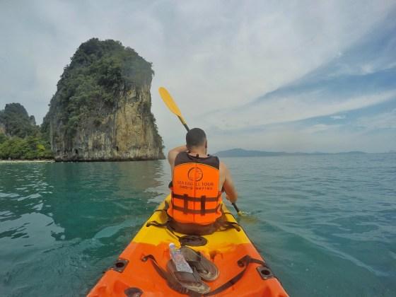 ko hong lagoon krabi thailand kayak