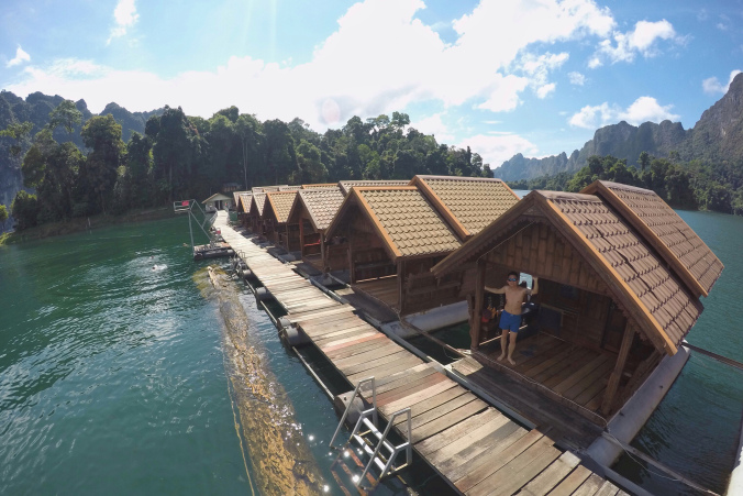 floating villa cheow lan lake khao sok thailand