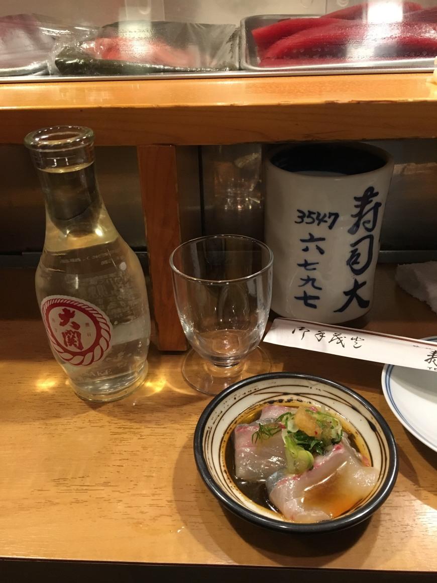 kampachi sashim sushi dai tokyo japan
