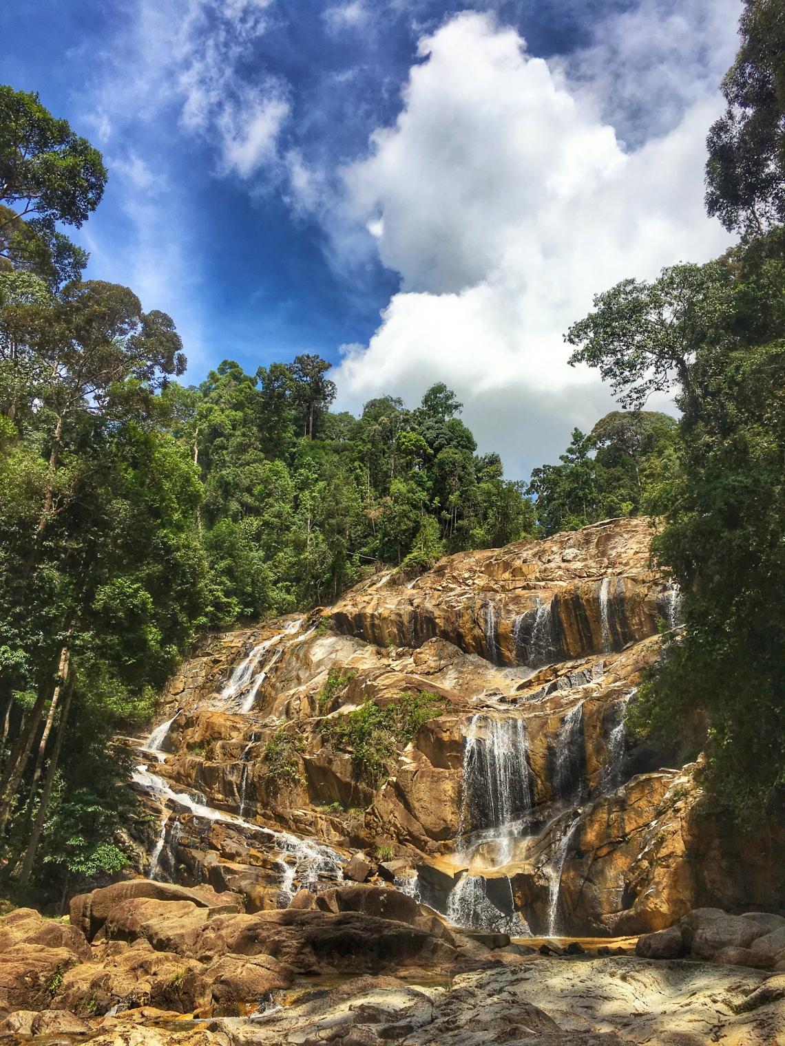 sungai pandan waterfall panching