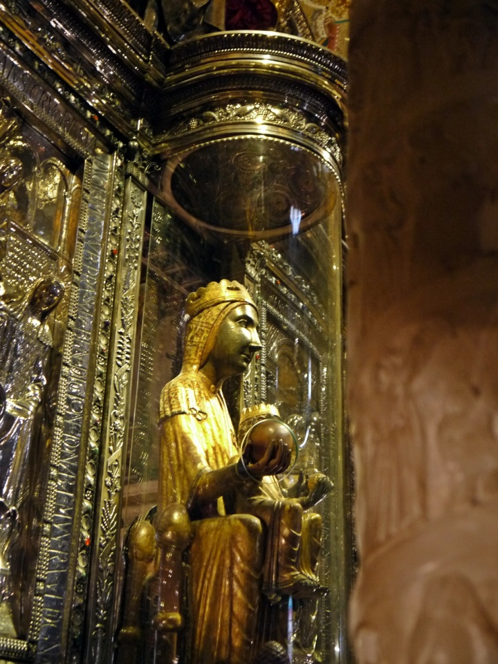 virgin of montserrat black madonna barcelona spain
