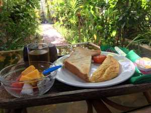 Simple breakfast at our guesthouse siem reap cambodia jermpins