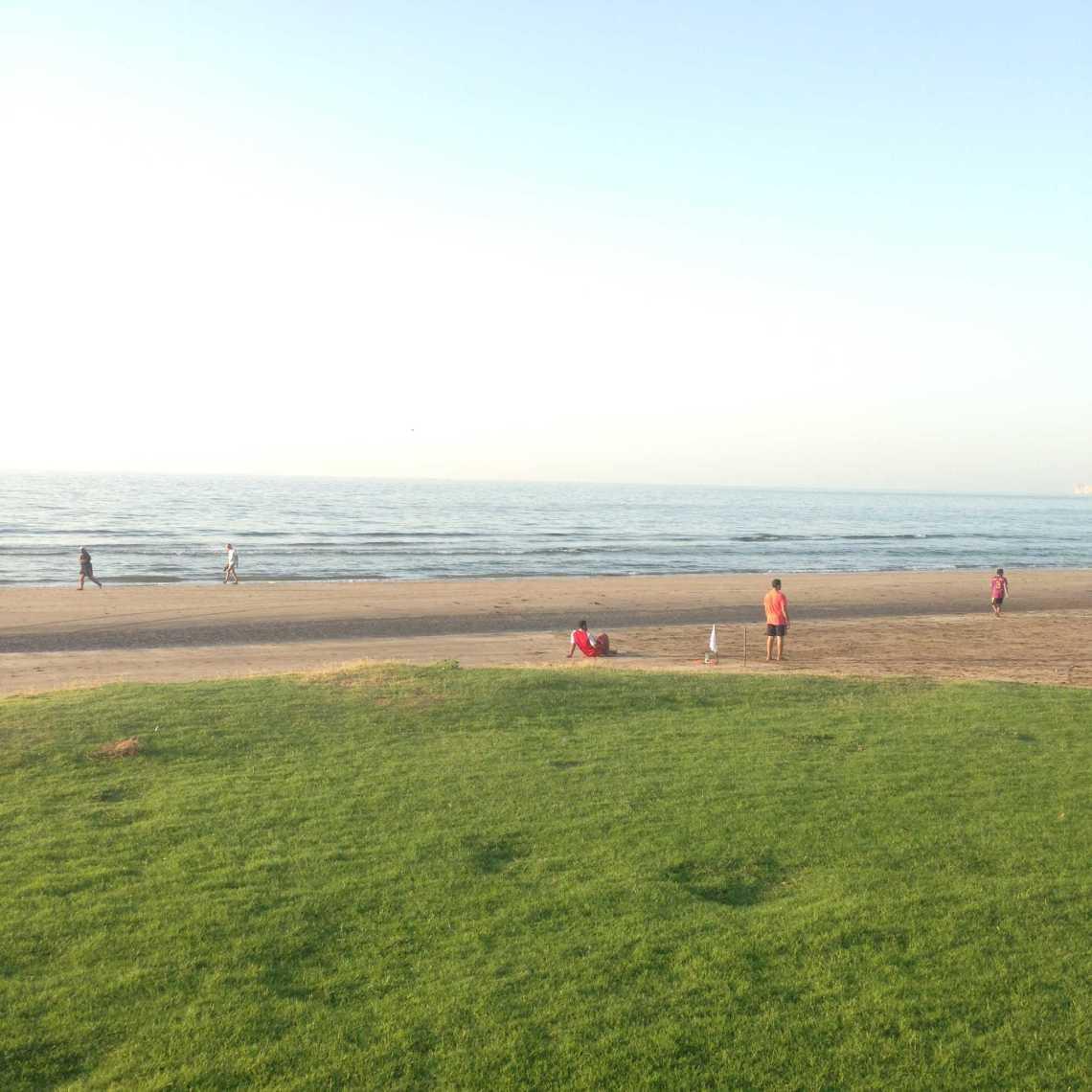 Beach front of Grand Hyatt Muscat oman jermpins