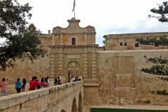 Mdina, the entrance gate