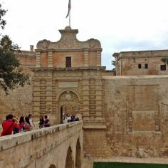 Mdina, the entrance gate