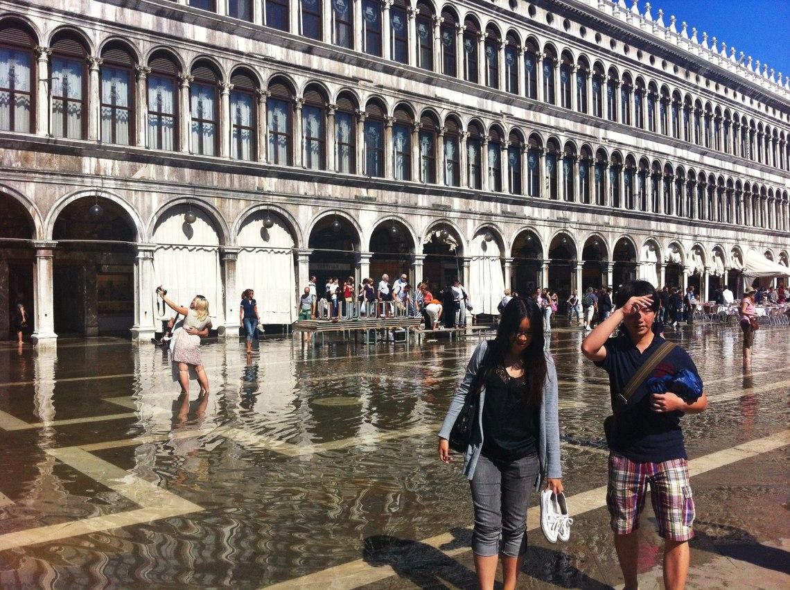 Acqua alta in San Marco square venice italy jermpins