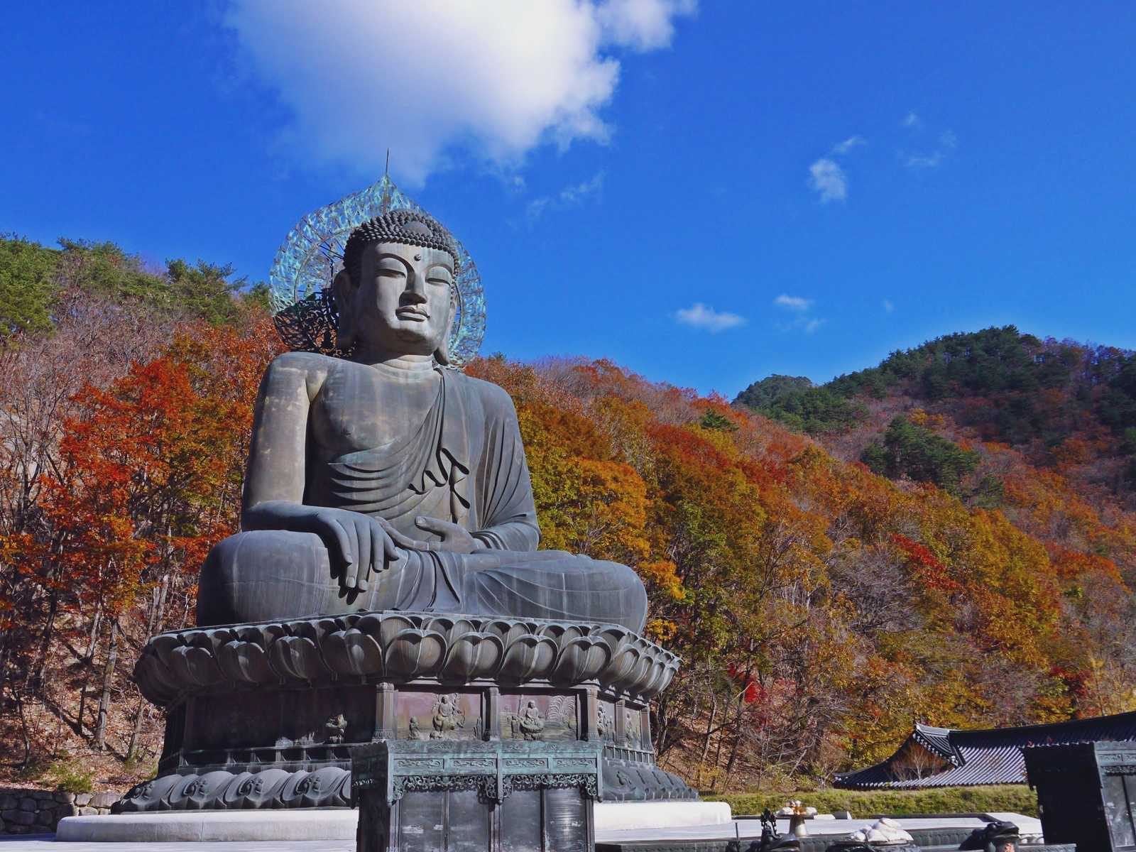 Bronze Buddha of Sinheungsa south korea
