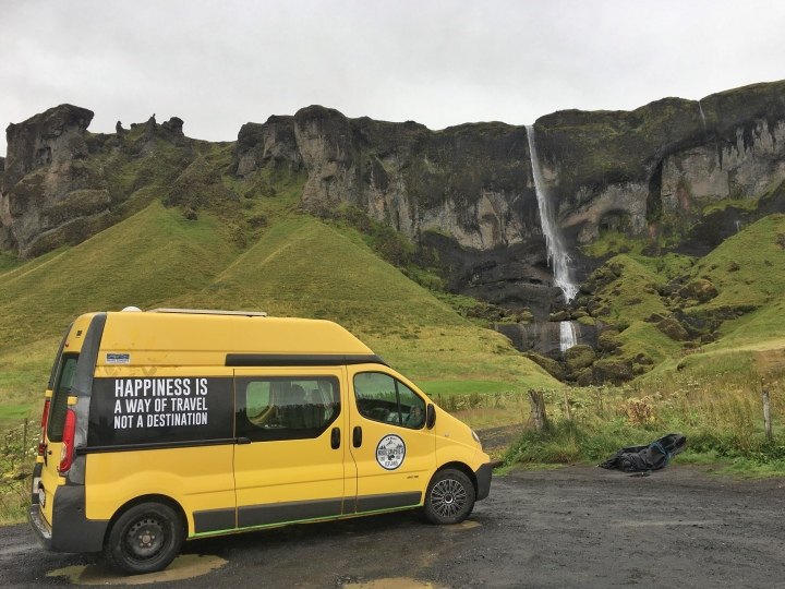Our faithful Renault Kangoo from Nordic Campers jermpins iceland