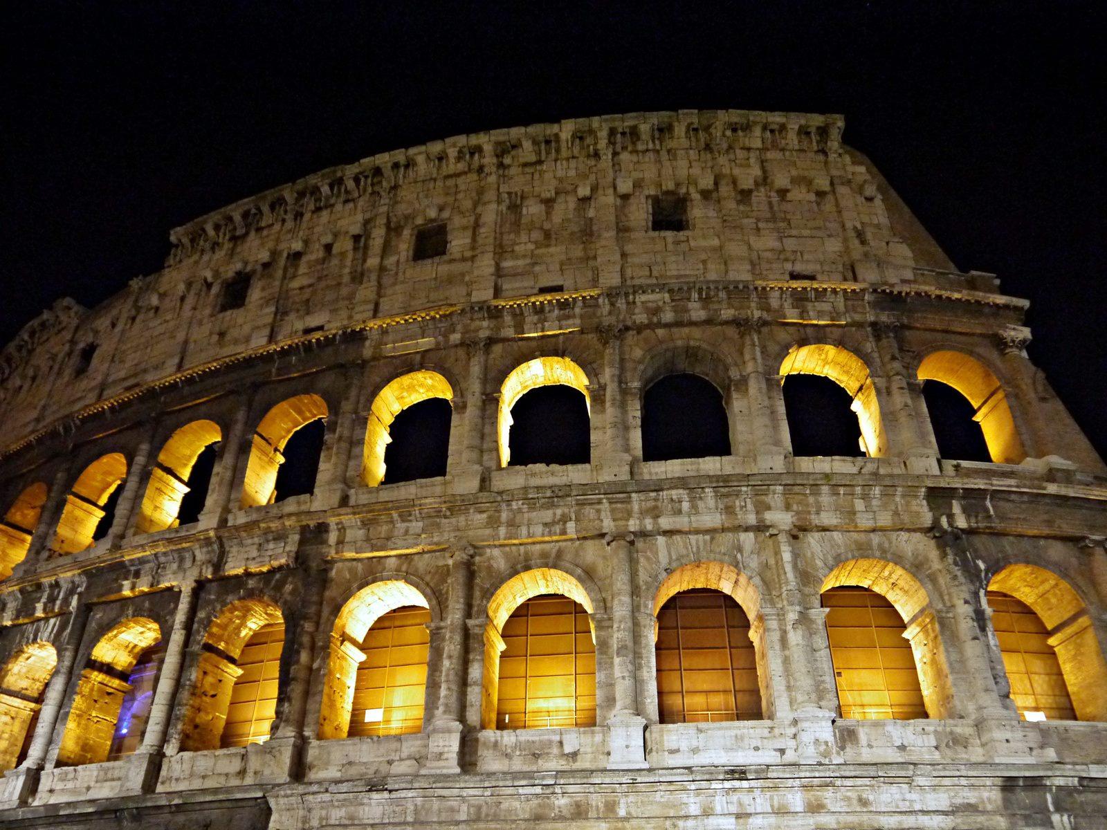jermpins rome vatican city colosseum night
