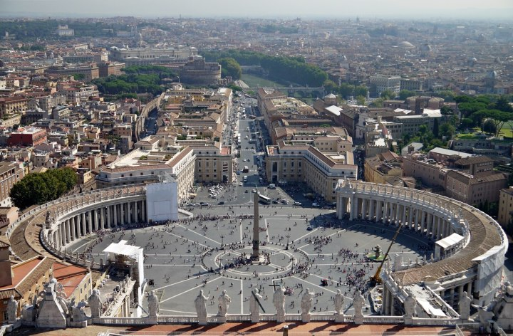 jermpins rome vatican city Panorama view from St Peter's basilica dome