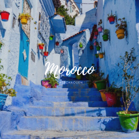 Chefchaouen, Morocco (Source: )https://www.shutterstock.com/image-photo/allay-chefchaouen-morocco-striking-variously-hued-548825320